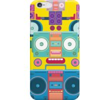 funny and cute vector boombox face pattern iPhone Case/Skin