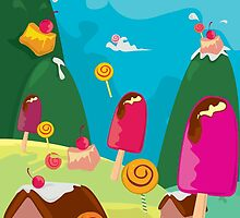ice cream and candy land by singpentinkhepi