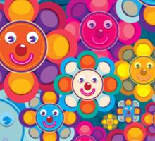 fun flower colorful pattern Sticker