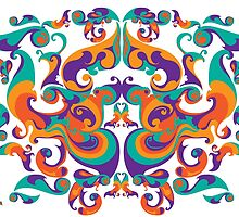 symmetrical vector colorful pattern by singpentinkhepi