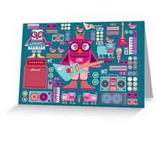 Cute colorful cartoon band Greeting Card