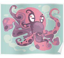 Cute octopus monster Poster