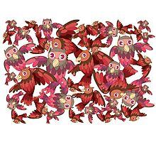 Cute random owl pattern Photographic Print