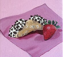Cannoli & Strawberry Painting by Lagoldberg28