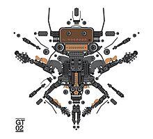 guitar robot character design Photographic Print