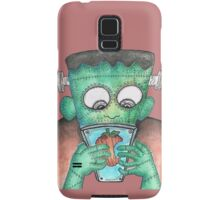 Frankenstein's Monster Learning How To Use Modern Tech Samsung Galaxy Case/Skin