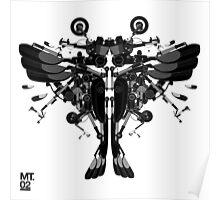 blackbird motorbike robo Poster