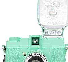 Neptune Green Vintage Camera by jaredmunson