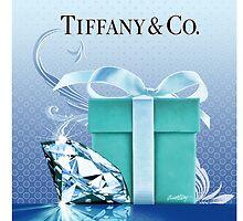 Tiffany Blue Box & Huge Diamond by Everett Day