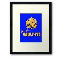 Join Vault-Tec Framed Print