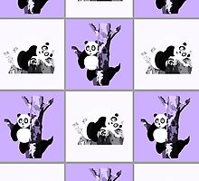 Pandas Checker - Purple by Adamzworld