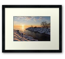 Brilliant, Bright and Cold - a Winter Morning on the Lake Shore Framed Print