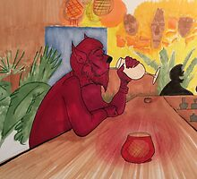 Werewolf at Trader Vic's by Itsaliveanimate