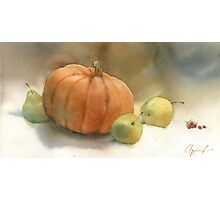 Stil-life with pumpkin Photographic Print