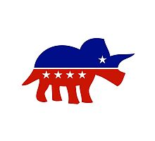 Triceratops Political Logo Photographic Print