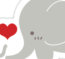 Baby and parent elephant with heart Sticker