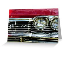 Chevrolet Impala Grill Greeting Card