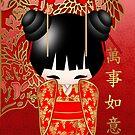 Good Luck Kokeshi Doll  by Moonlake