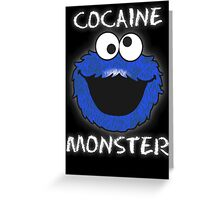 Cocaine Monster Greeting Card