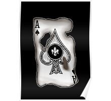 Burnt Ace of Spades Poster