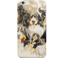 Bernese Mountain Dog w/Ghost iPhone Case/Skin