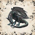 Dragon Song, tote, case, throw pillow by LoneAngel