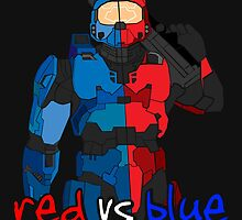 Red vs Blue Poster by rasadesign