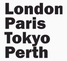 London Paris Tokyo Perth Kids Clothes