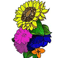 Colorful Sunflower by Abstractionz