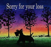 Scottie Dog 'Sorry for your loss' by archyscottie