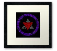 Zero Unit Symbol Framed Print