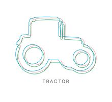 Tractor CMYK illustration by opul