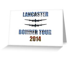 Lancaster bomber tour 2014 Greeting Card