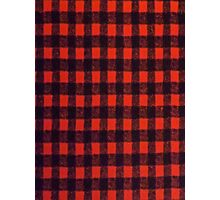 RED BUFFALO PLAID SMARTPHONE CASE (Phoney) Photographic Print