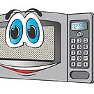 Stainless Steel Male Microwave Cartoon by Graphxpro