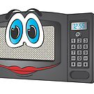 Black Female Microwave Cartoon by Graphxpro