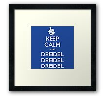 Keep Calm and Dreidel Framed Print
