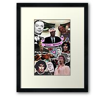 The God that is Tim Curry Framed Print