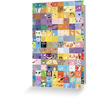 All 150 Catchable Pokemon Wallpapers Greeting Card