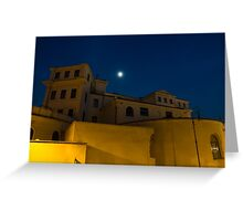 Magical Rome, Italy - Yellow Facades and Moonlight Greeting Card