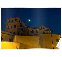Magical Rome, Italy - Yellow Facades and Moonlight Poster