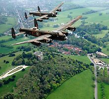 Two Lancasters over West Wycombe by Gary Eason + Flight Artworks