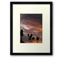 California Palm Sunset Framed Print