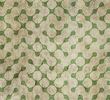 Abstract Green Retro Grunge Maze Pattern by sale