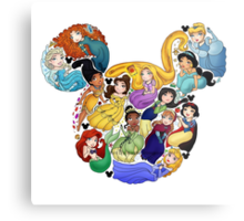 Princess Mickey Ears Metal Print
