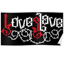 Love Slave (red white) Poster