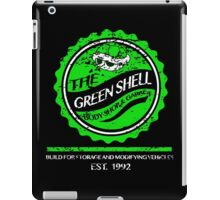 The Green Shell Body Shop & Garage (Distressed Version) iPad Case/Skin