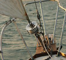 Sailboat Bow on the Open Water by josephjames