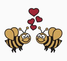 Bees love hearts by Designzz