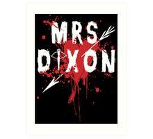 Mrs Dixon Art Print